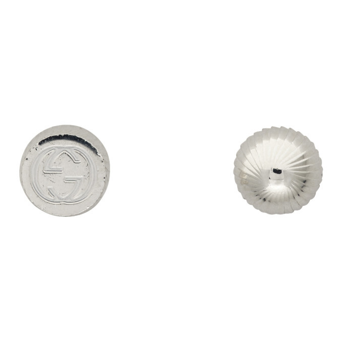 Photo: Gucci Silver Square and Round Stud Earrings