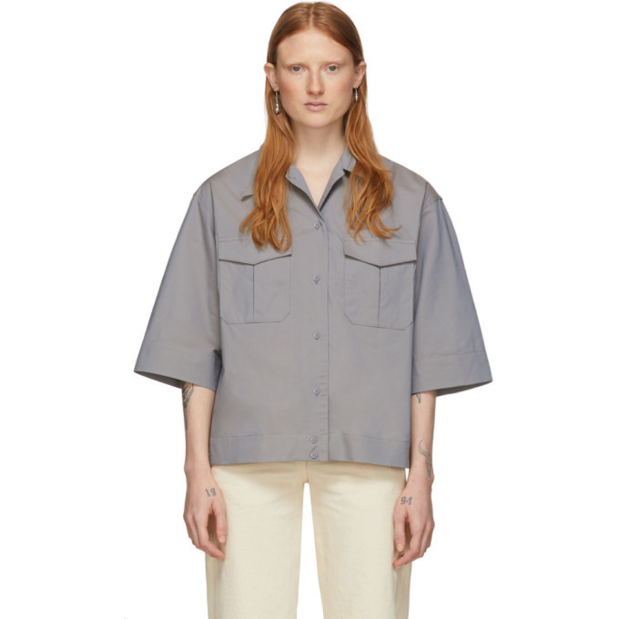 Photo: Lemaire Grey Poplin Pocket Shirt