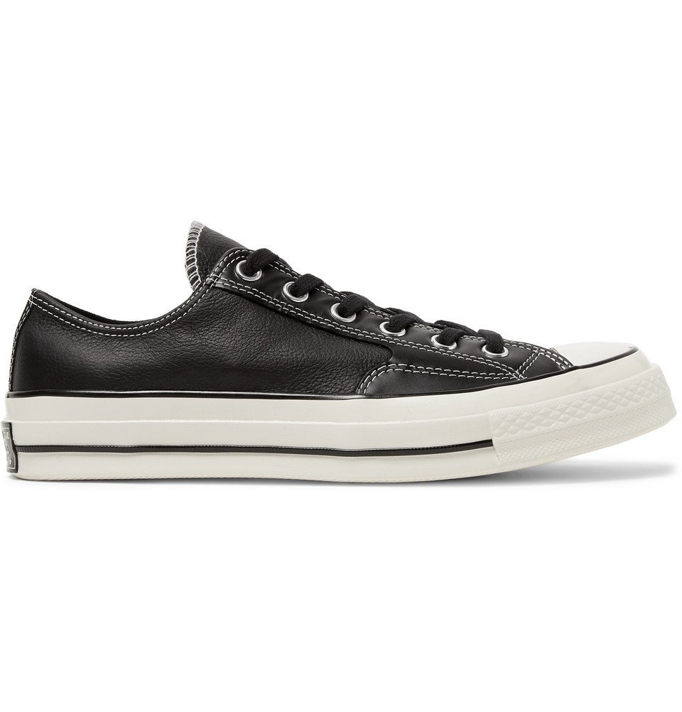 Photo: Converse - 1970s Chuck Taylor All Star Full-Grain Leather Sneakers - Black