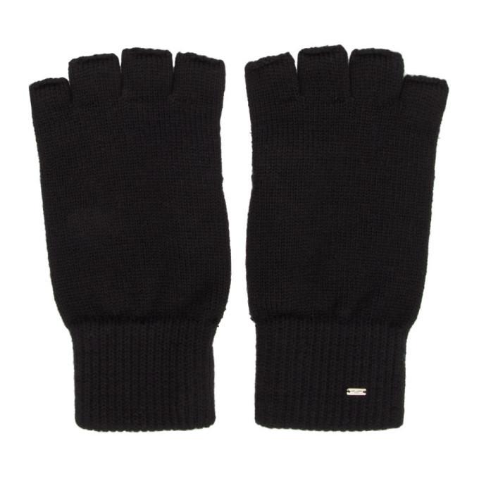 Photo: Saint Laurent Black Wool Fingerless Gloves