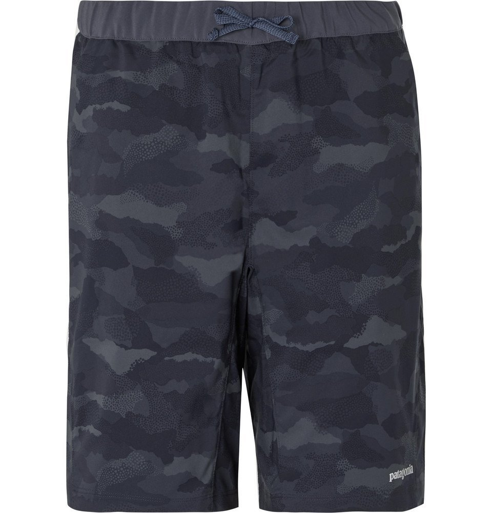Photo: Patagonia - Terrebone Camouflage-Print Ripstop Drawstring Shorts - Navy