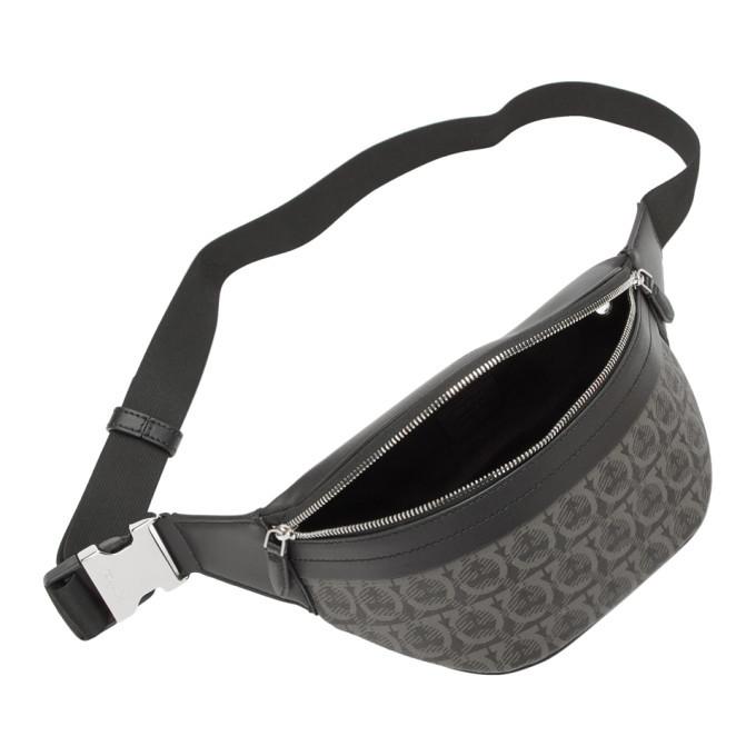 Salvatore Ferragamo Black Travel Belt Bag