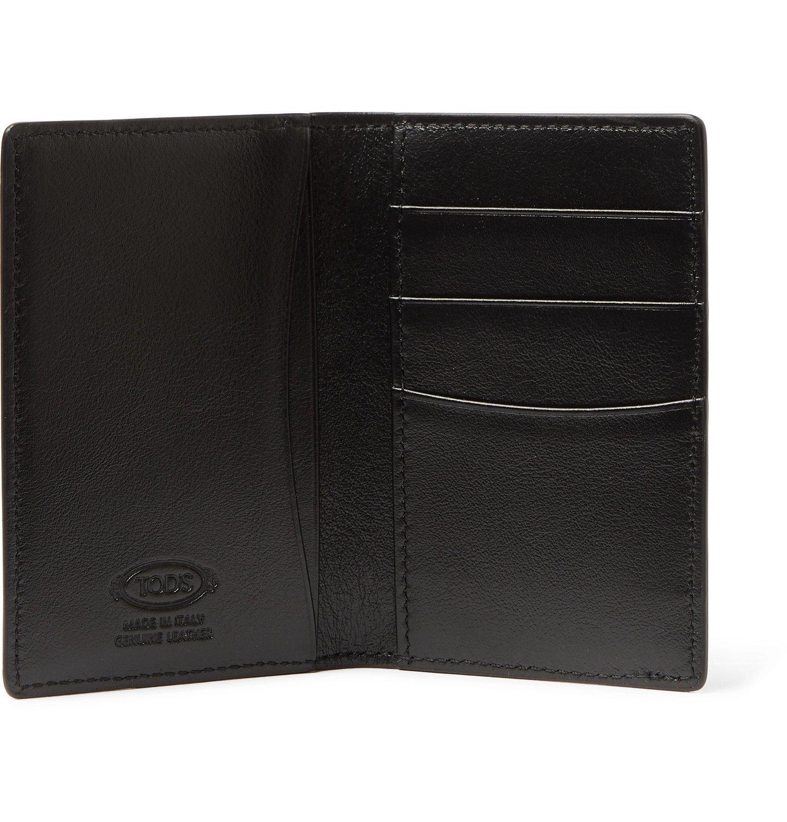 Tod's - Logo-Embellished Leather Bifold Cardholder - Black