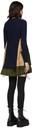 Sacai Navy Knit Wool & Grosgrain Dress