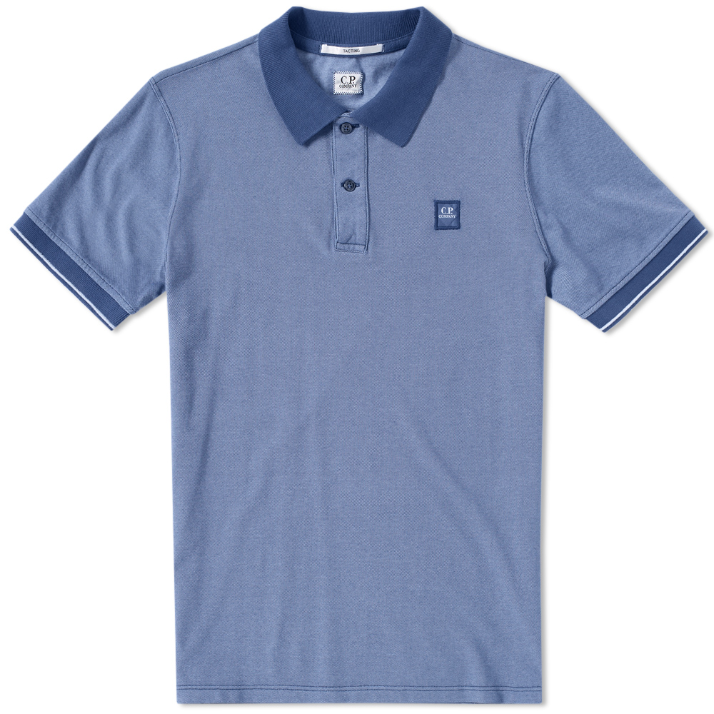 C.P. Company Garment Dyed Tipped Pique Polo