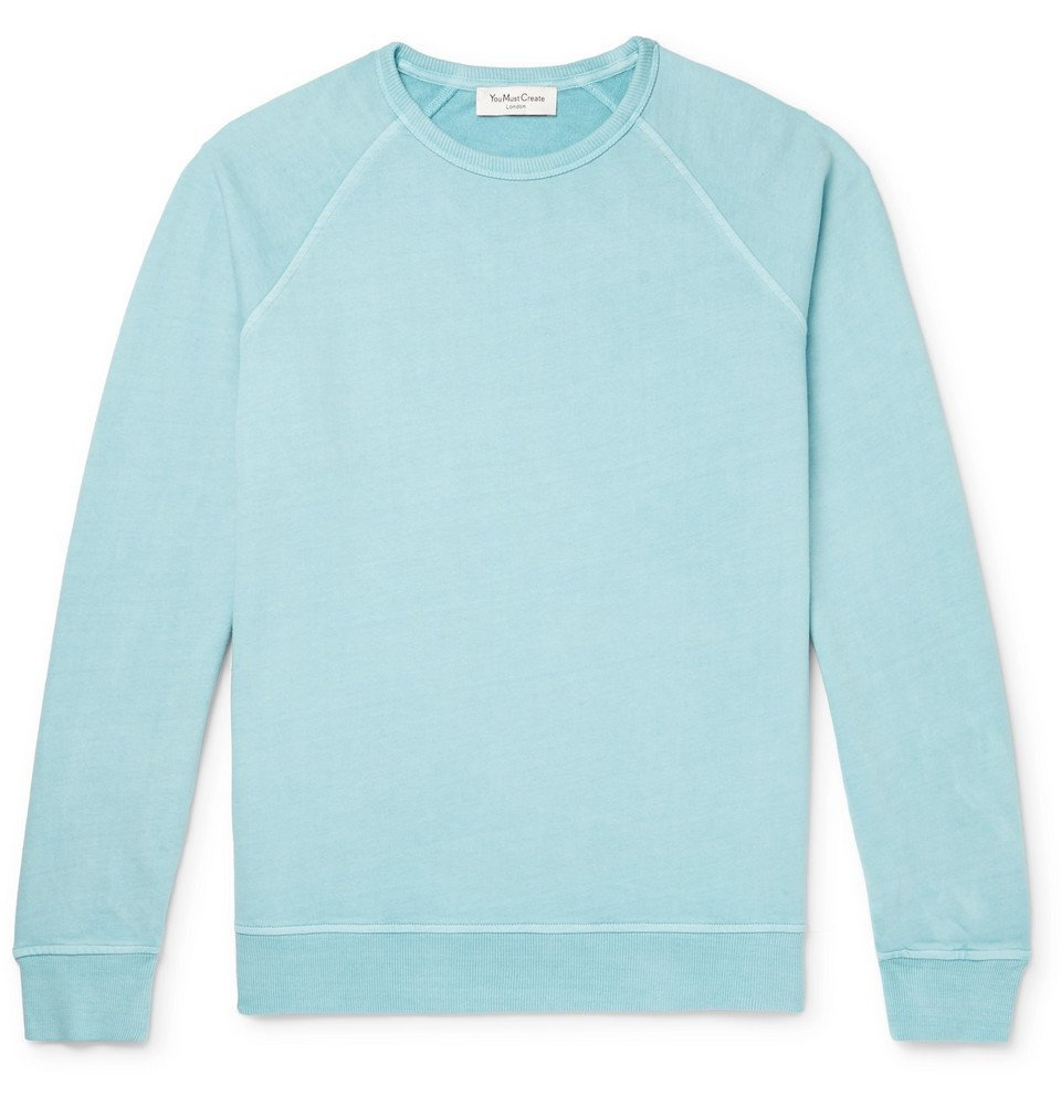 Photo: YMC - Schrank Loopback Cotton-Jersey Sweatshirt - Sky blue