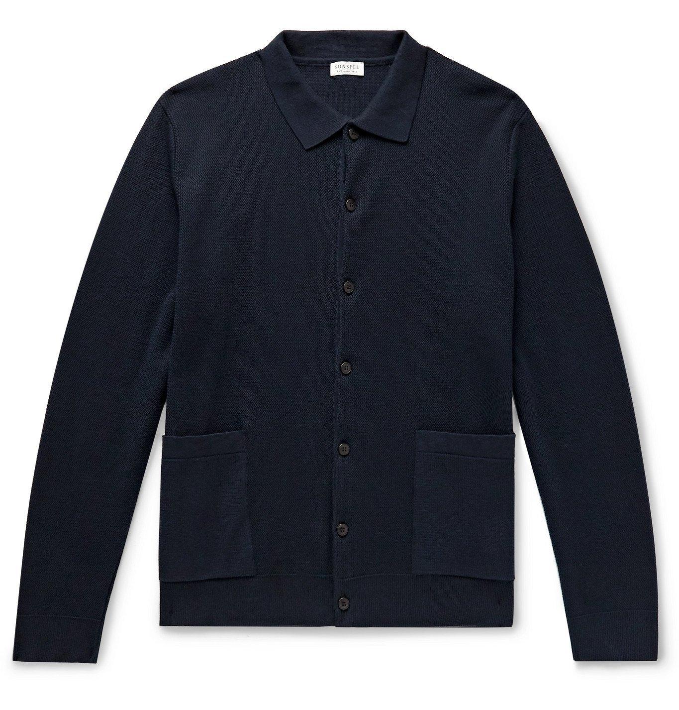 Sunspel - Cotton Cardigan - Blue