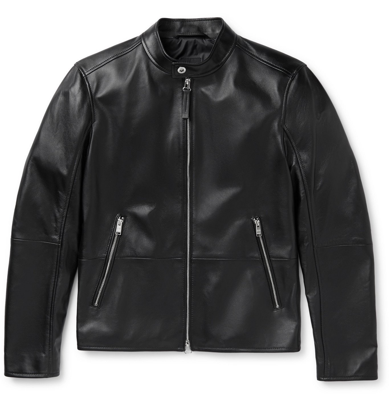 Photo: Hugo Boss - Nokuri Leather Biker Jacket - Black