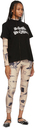 Sacai Black Jean Paul Gaultier Edition 'Enfants Terribles' Print T-Shirt