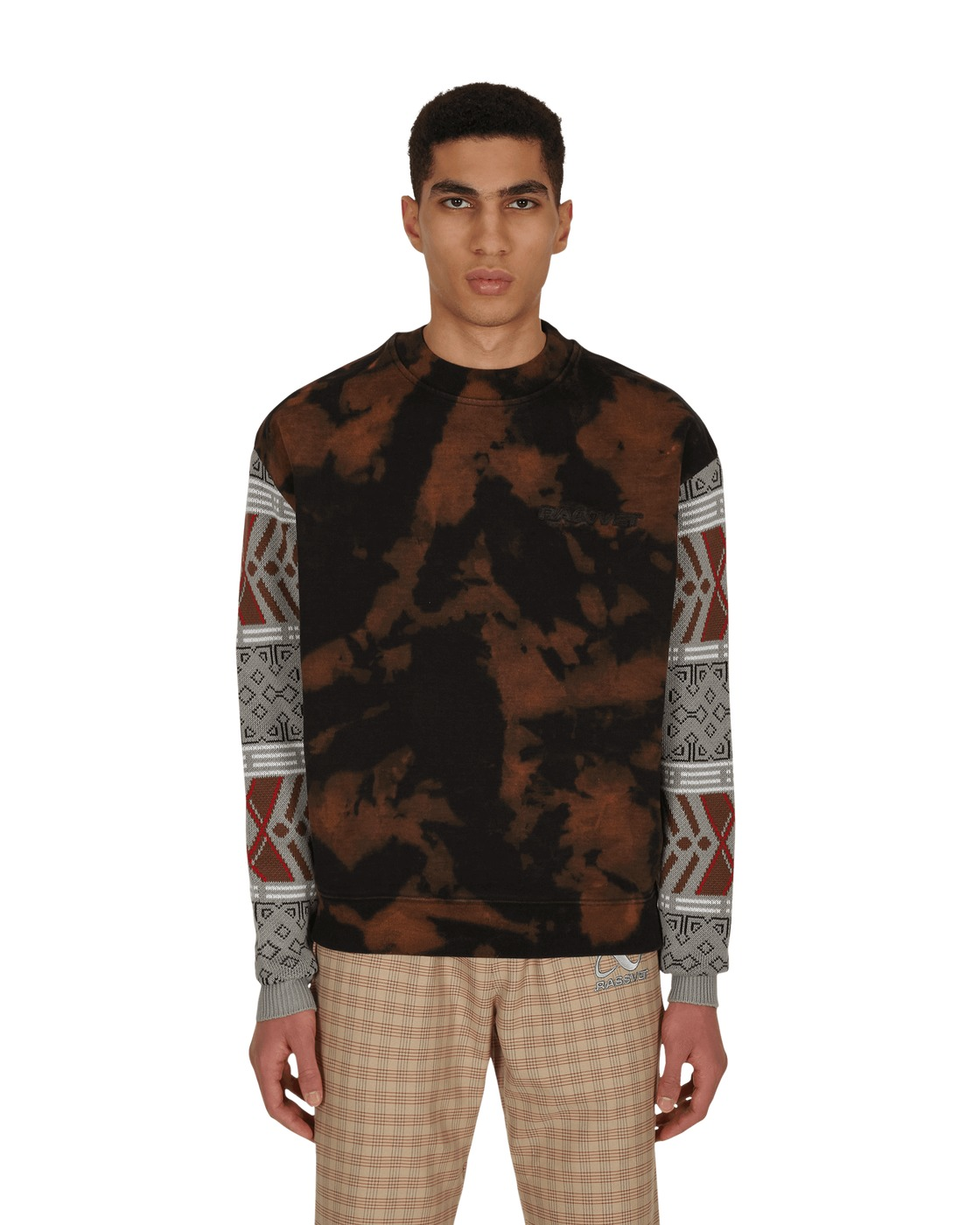 Photo: Paccbet Bleached Crewneck Sweatshirt Black