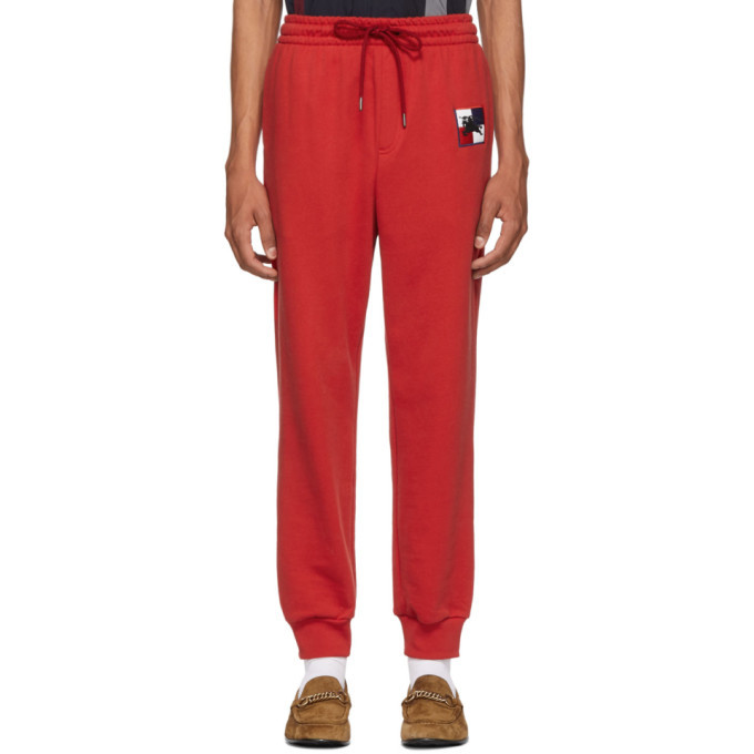 Photo: Burberry Red Chequer EKD Munley Track Pants