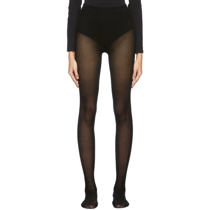 Photo: Gucci Black Cable Knit GG Tights