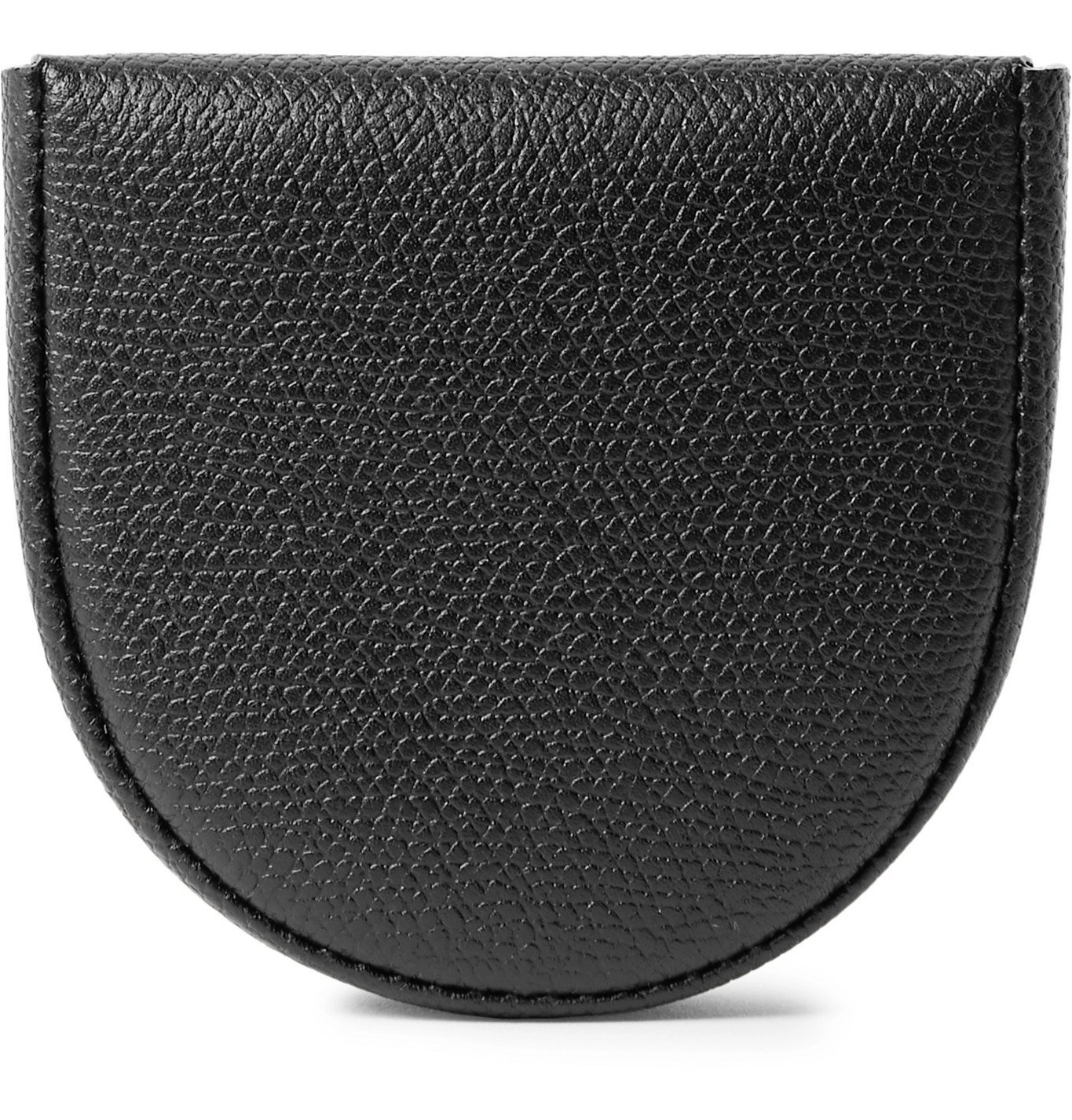 Photo: Valextra - Pebble-Grain Leather Coin Wallet - Black