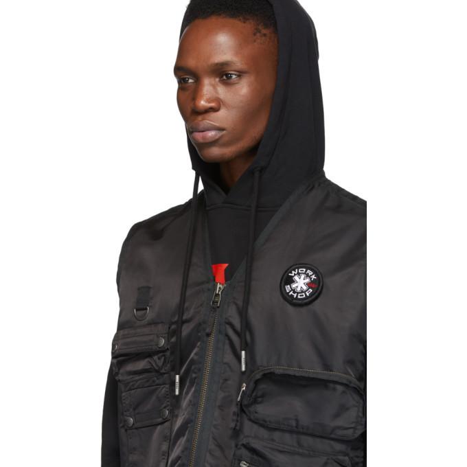 032c Black Cosmic Workshop Logo Vest