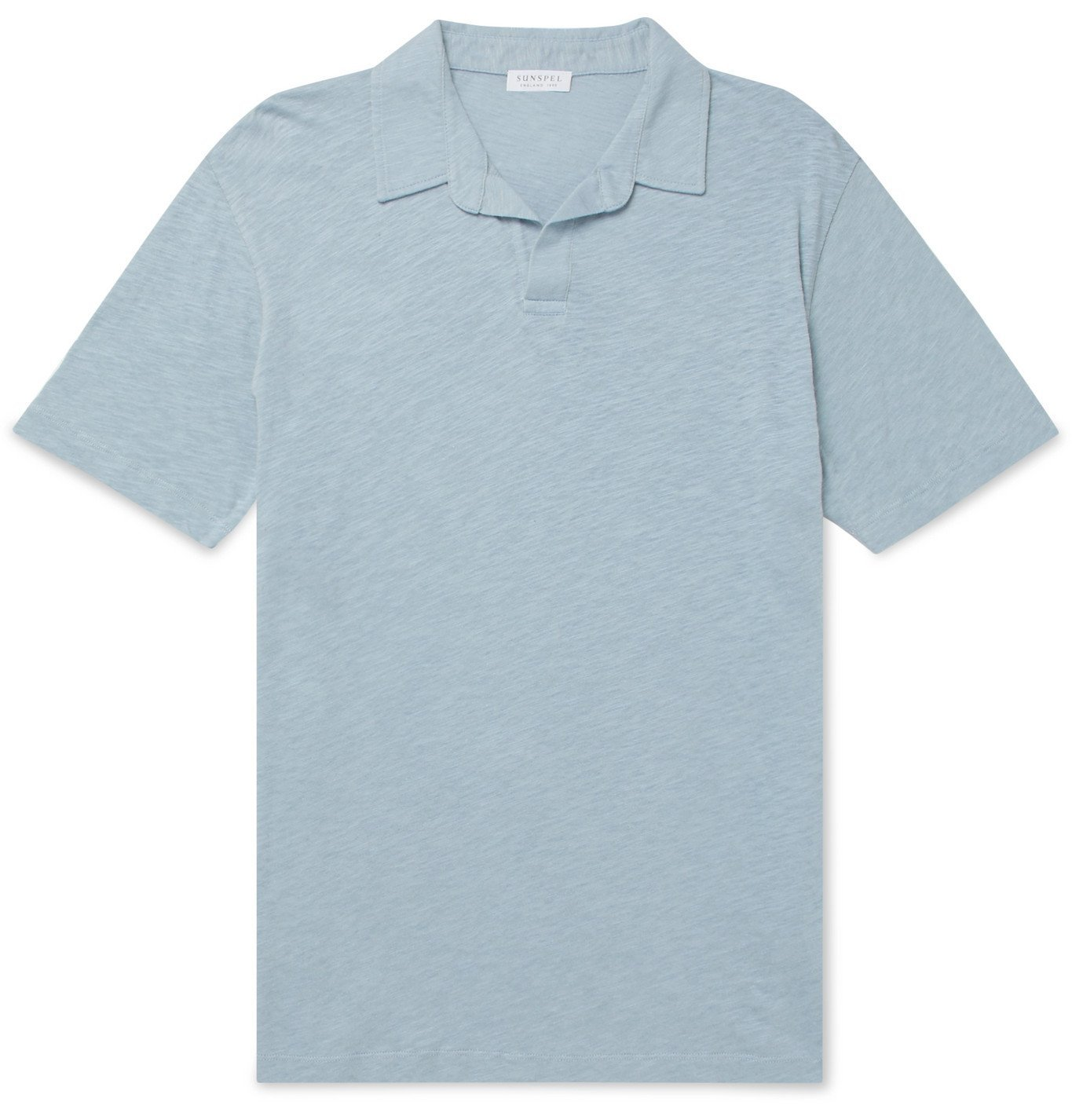 Photo: Sunspel - Mélange Cotton and Linen-Blend Polo Shirt - Unknown
