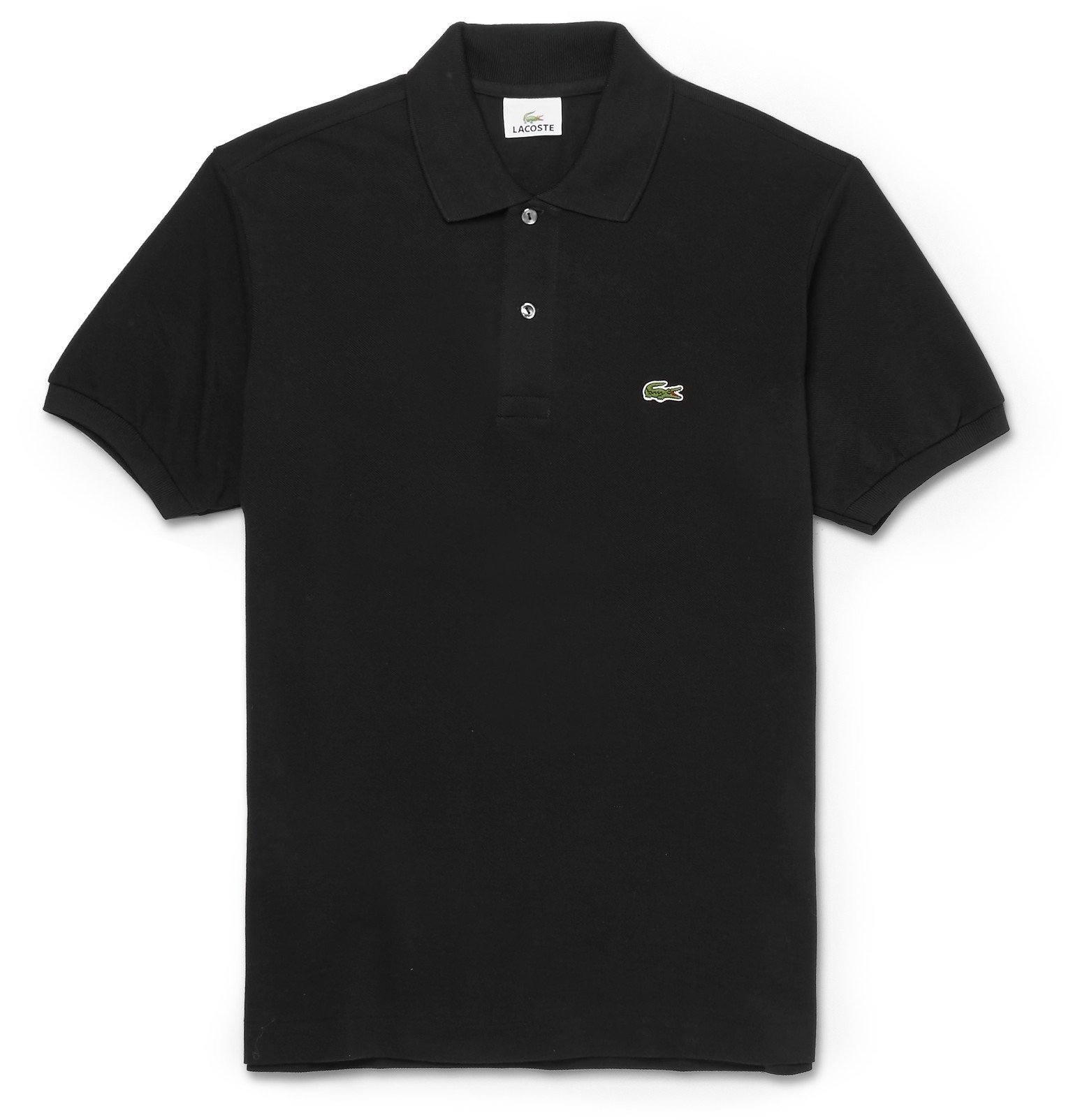 Photo: Lacoste - Cotton-Piqué Polo Shirt - Black