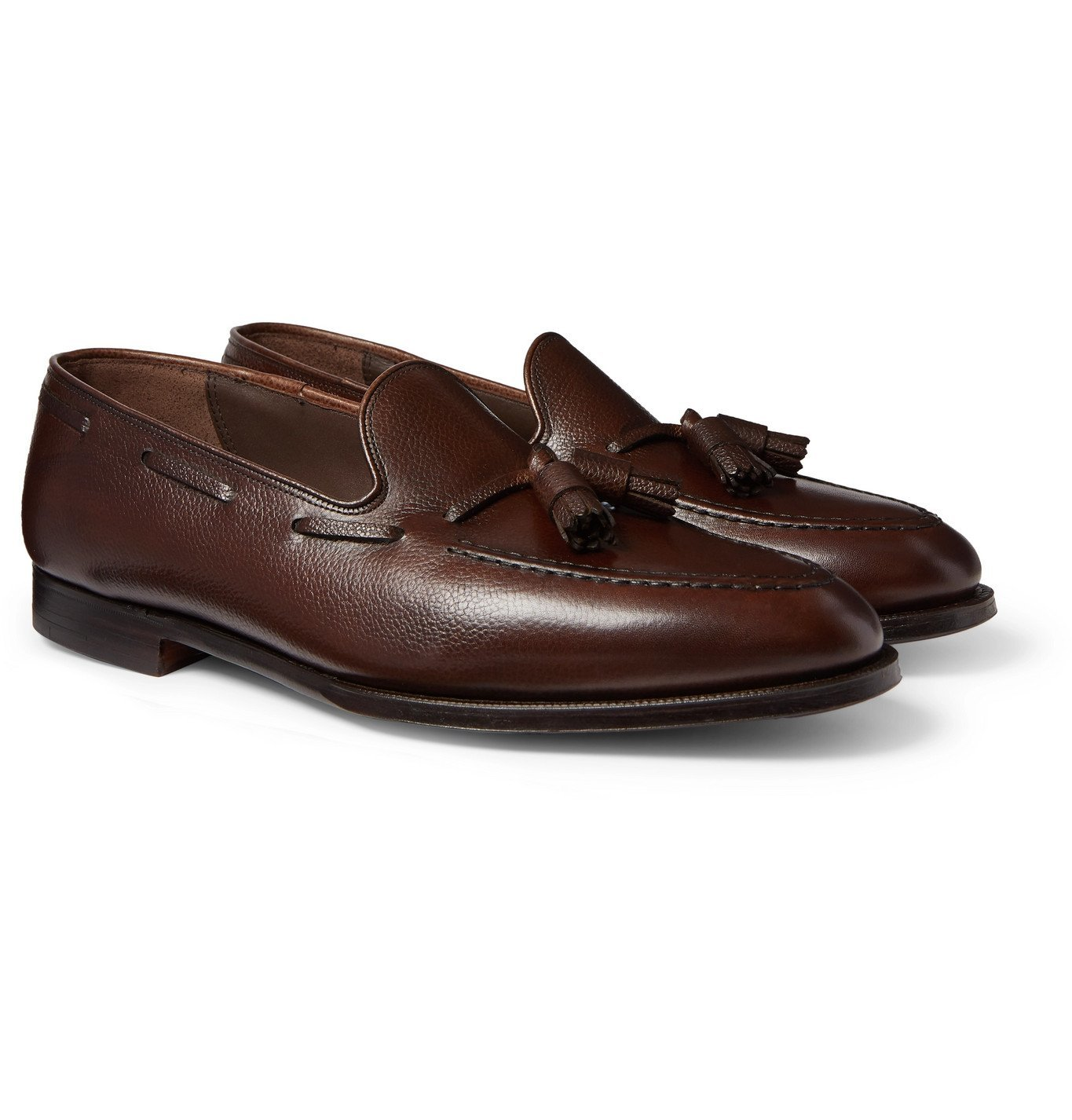 Photo: George Cleverley - Adrian Leather Tasselled Loafers - Brown