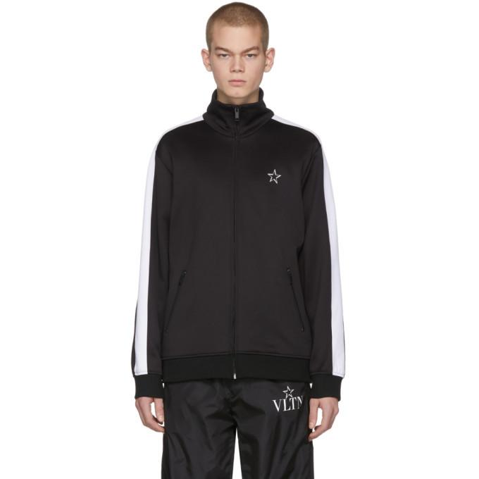 Photo: Valentino Black VLTN Star Zip-Up Sweater