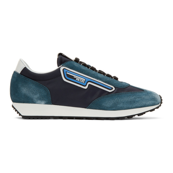 Photo: Prada Blue and Navy Suede Sneakers