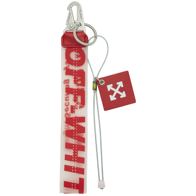 Photo: Off-White Red Rubber Keychain