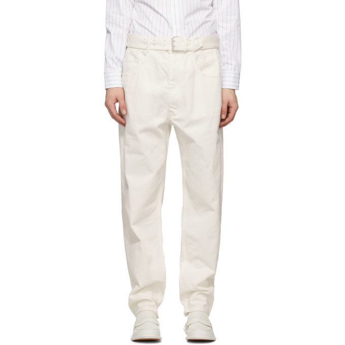 Photo: Maison Margiela White Belted Jeans