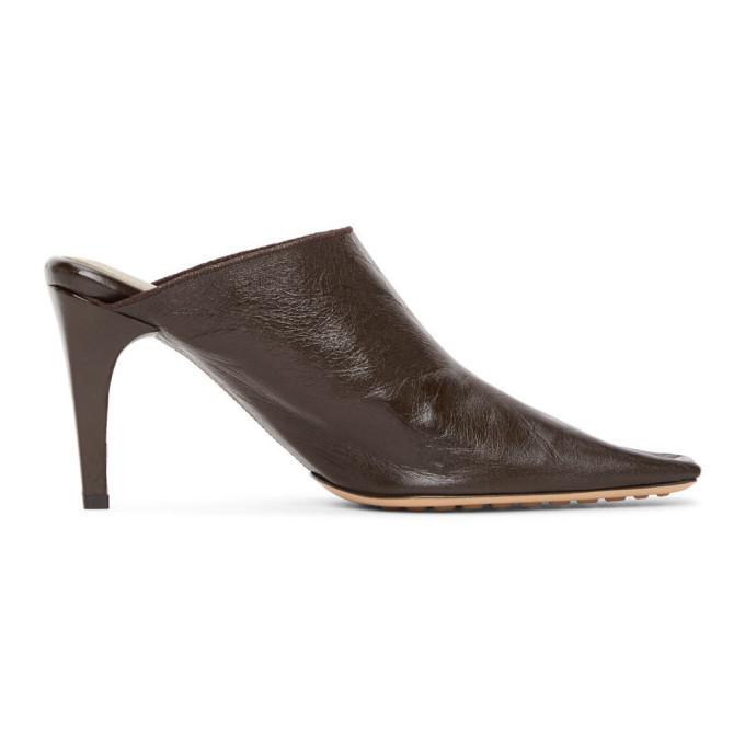 Photo: Bottega Veneta Brown Crunch Heels