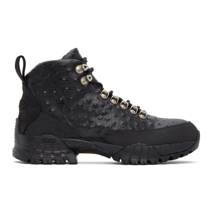 Photo: 1017 ALYX 9SM Black Ostrich Hiking Boots