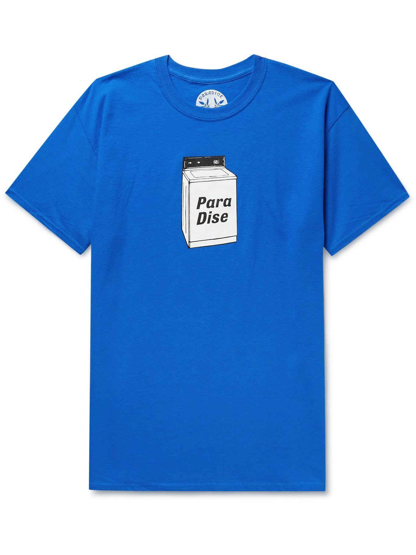 Photo: PARADISE - Printed Cotton-Jersey T-shirt - Blue