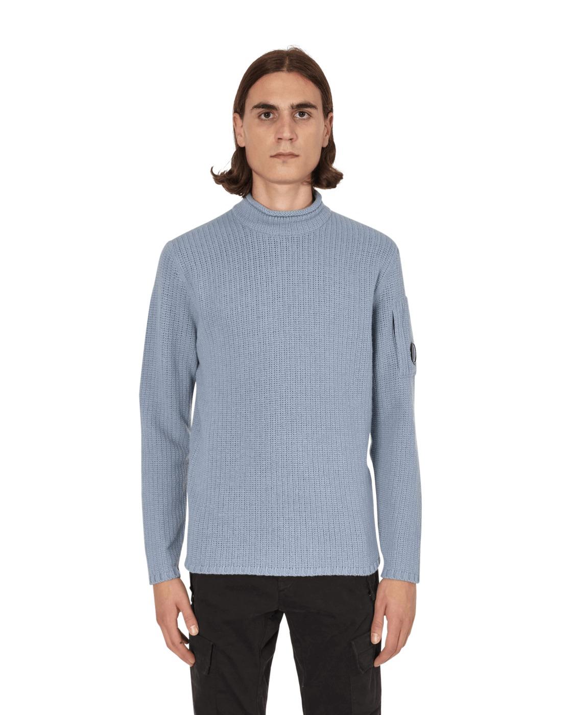 Photo: C.P. Company Mock Neck Sweater Blue Fog
