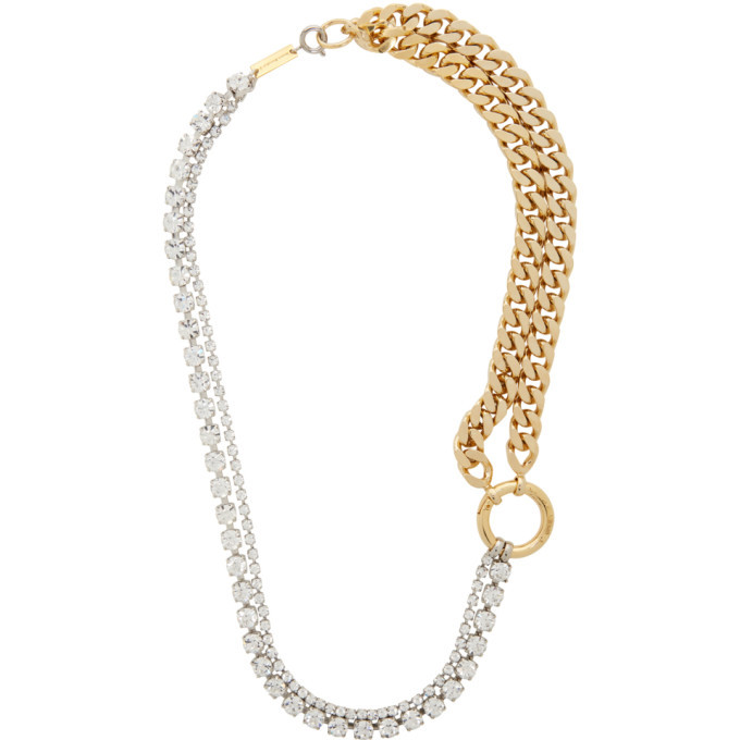 Photo: MM6 Maison Margiela Gold and Silver Mixed Necklace