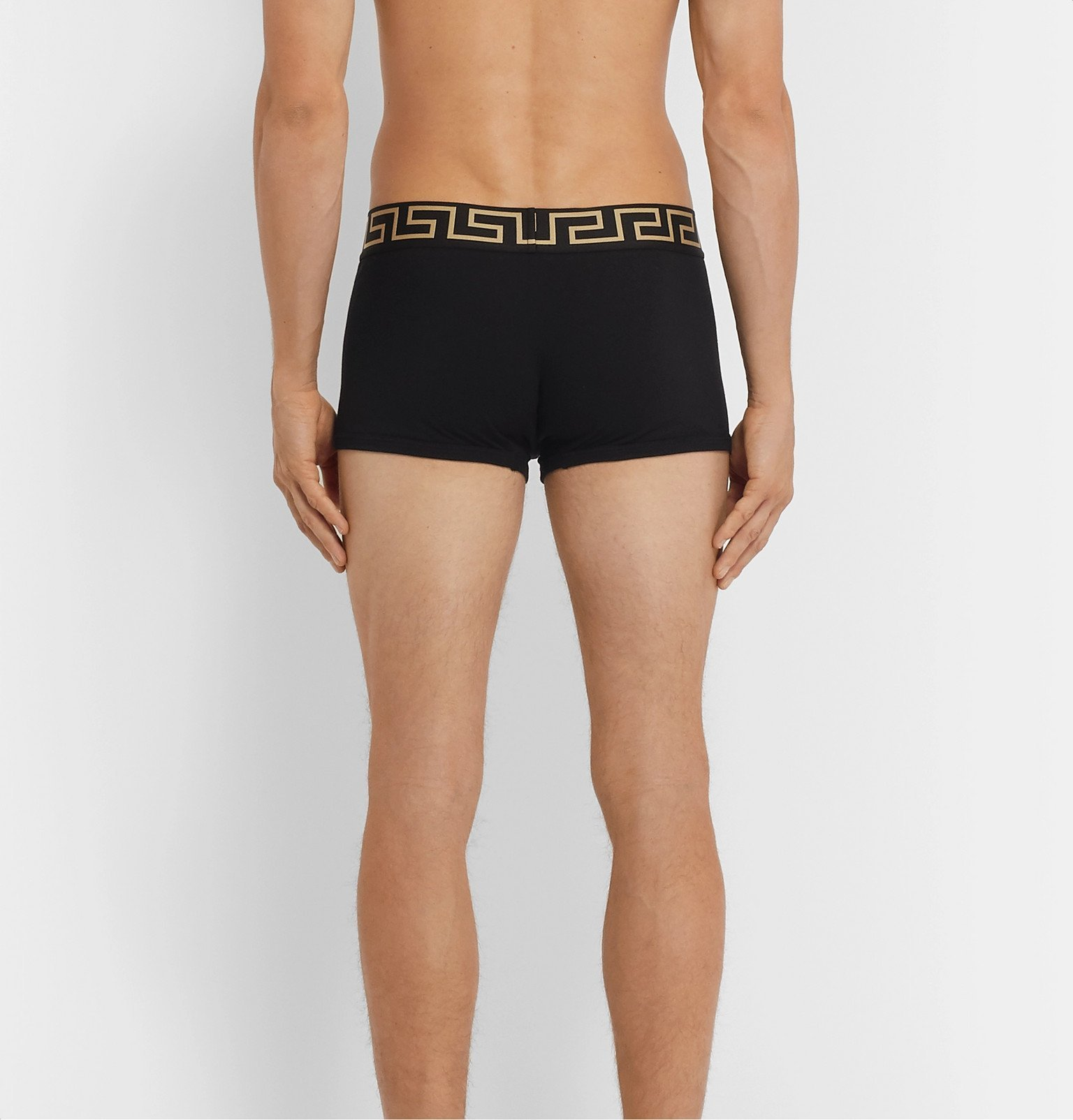 Versace - Two-Pack Stretch-Cotton Boxer Briefs - Black