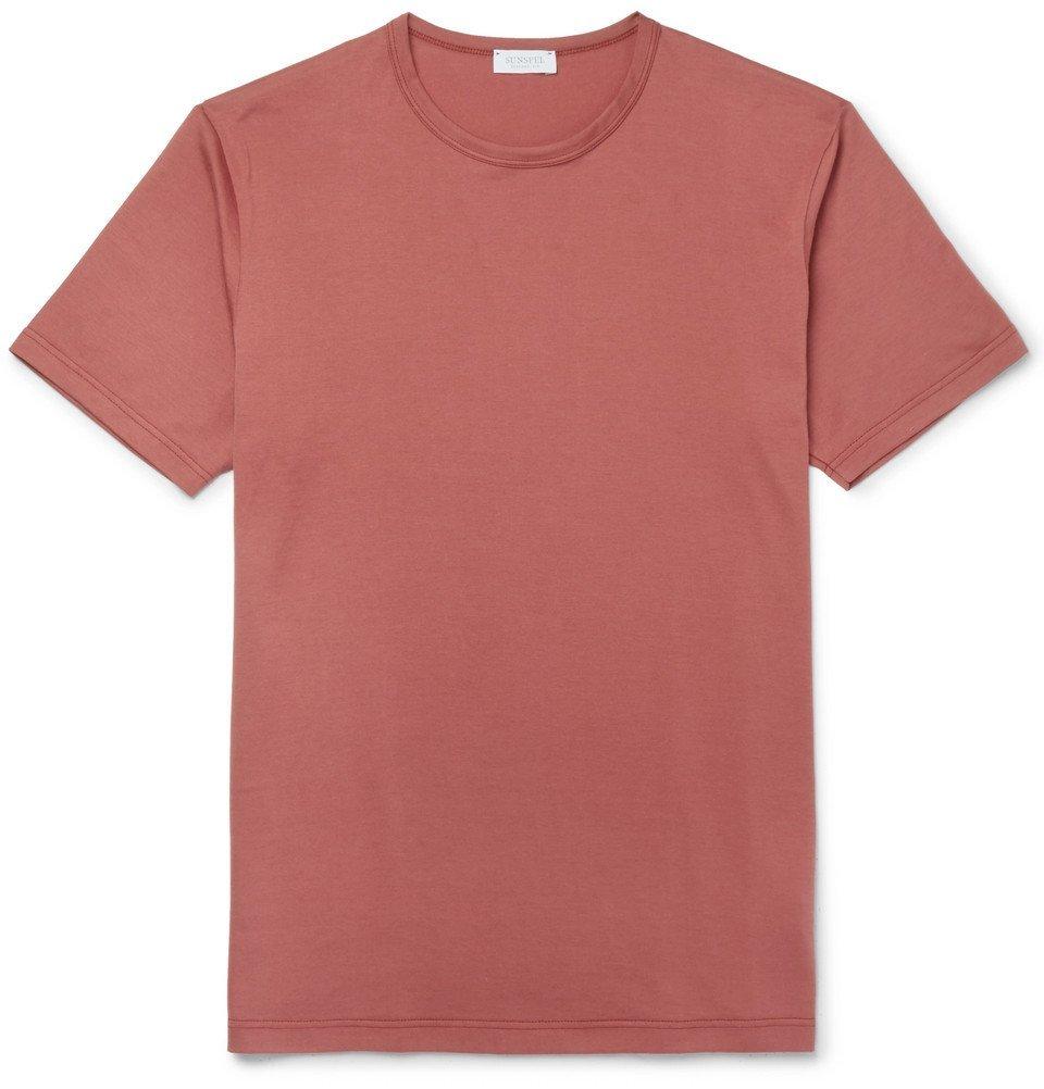 Sunspel - Slim-Fit Cotton-Jersey T-Shirt - Red