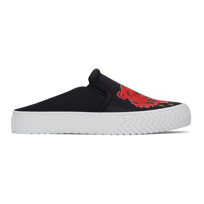 Photo: Kenzo Black Limited Edition Chinese New Year Neoprene K-Skate Mule Sneakers