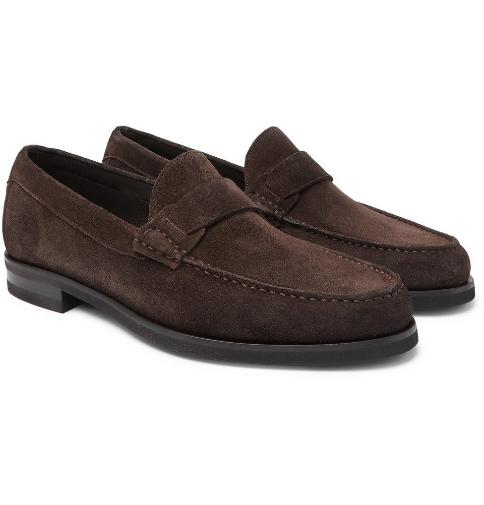 Photo: Canali - Suede Loafers - Brown
