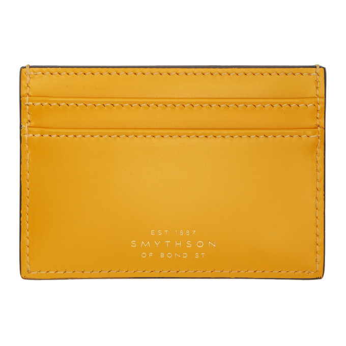 Photo: Smythson Yellow Wigmore Card Holder