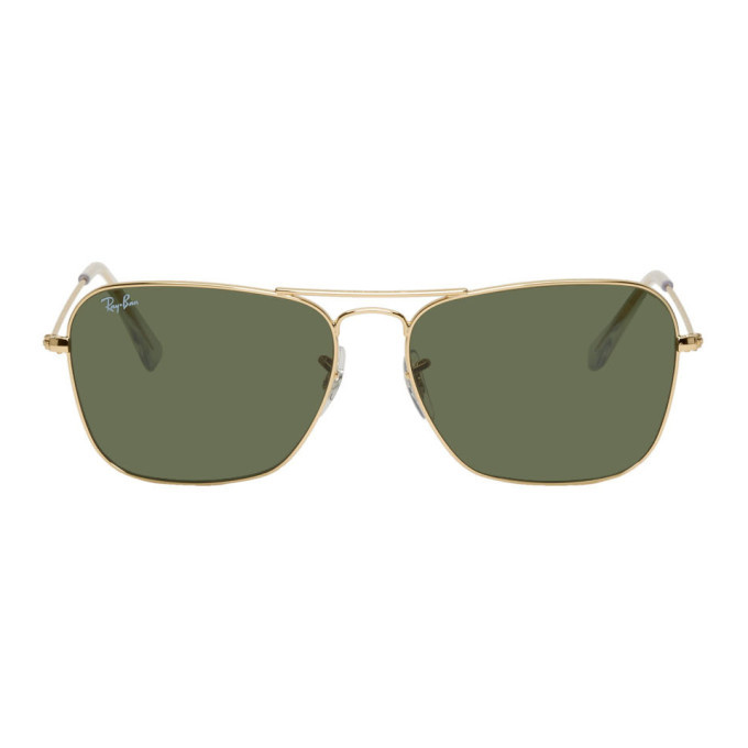Photo: Ray-Ban Gold Metal Caravan Sunglasses