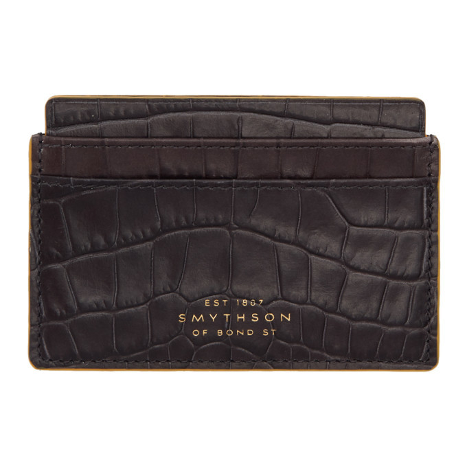 Photo: Smythson Black Croc Mara Card Holder
