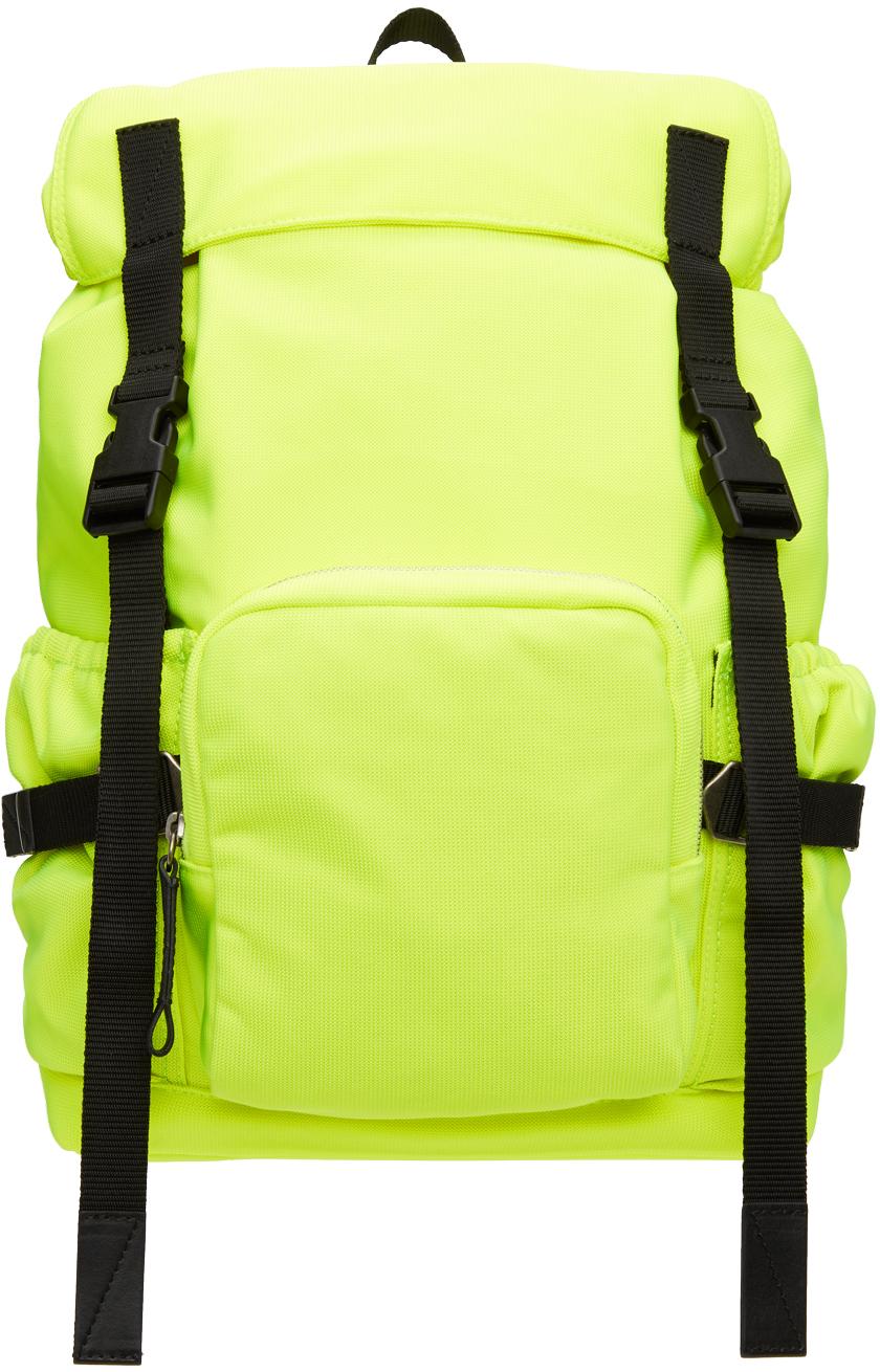 Photo: Dries Van Noten Yellow Nylon Canvas Backpack