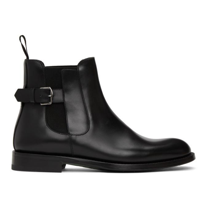 Photo: Etro Black Leather Chelsea Boot