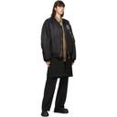Raf Simons Reversible Black and Brown Detachable Liner Bomber Jacket