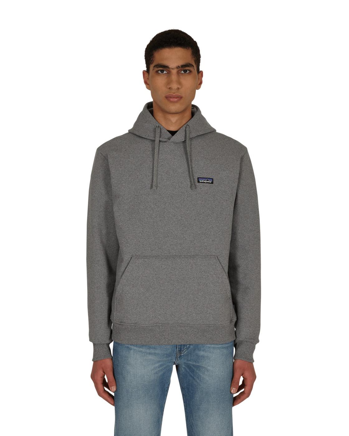 Photo: Patagonia P 6 Label Uprisal Hooded Sweatshirt Gravel Heather