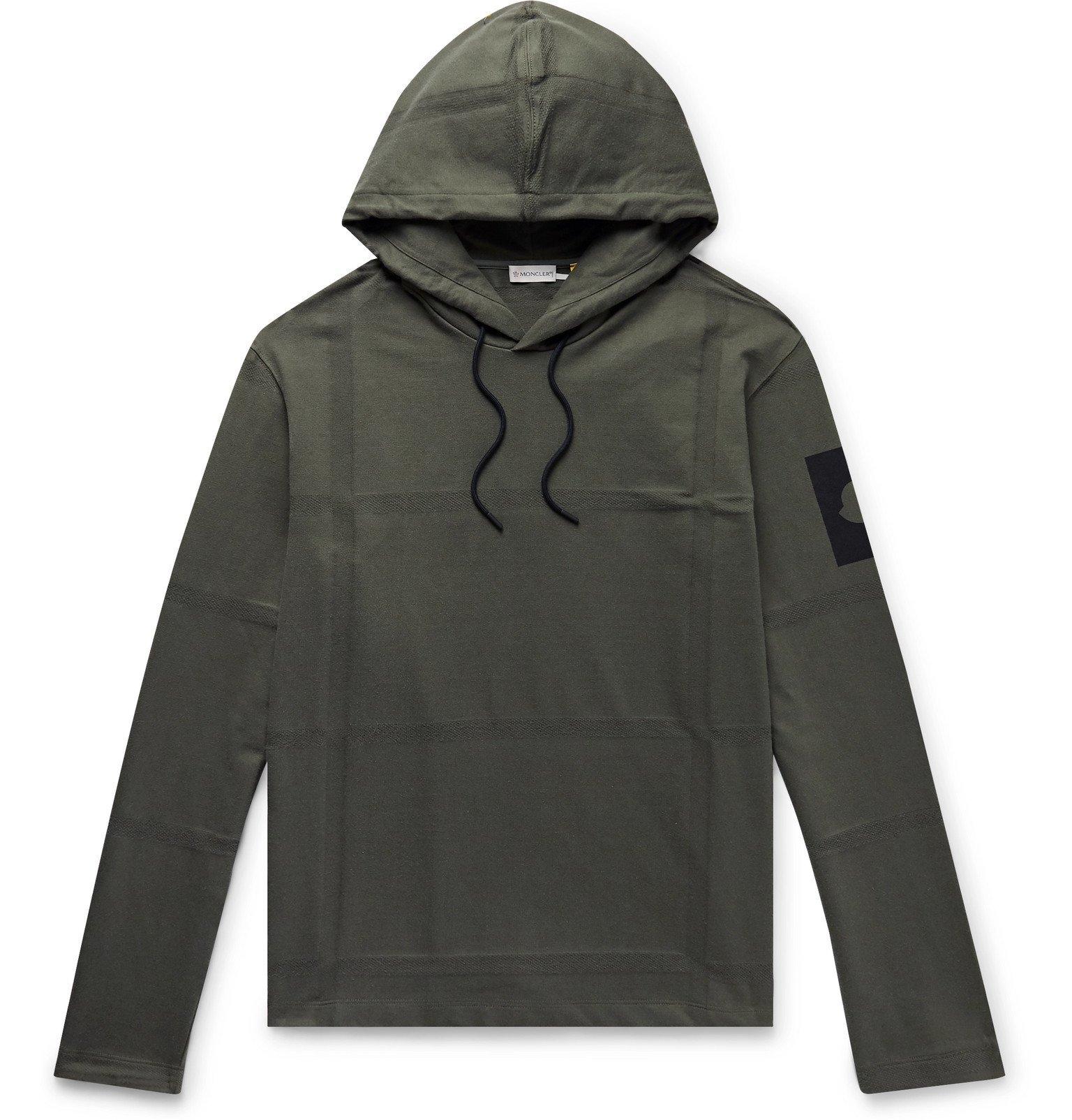 Photo: Moncler Genius - 5 Moncler Craig Green Logo-Print Cotton-Jersey Hoodie - Green