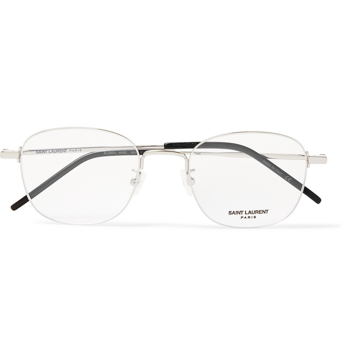 Photo: SAINT LAURENT - Round-Frame Silver-Tone Optical Glasses - Silver