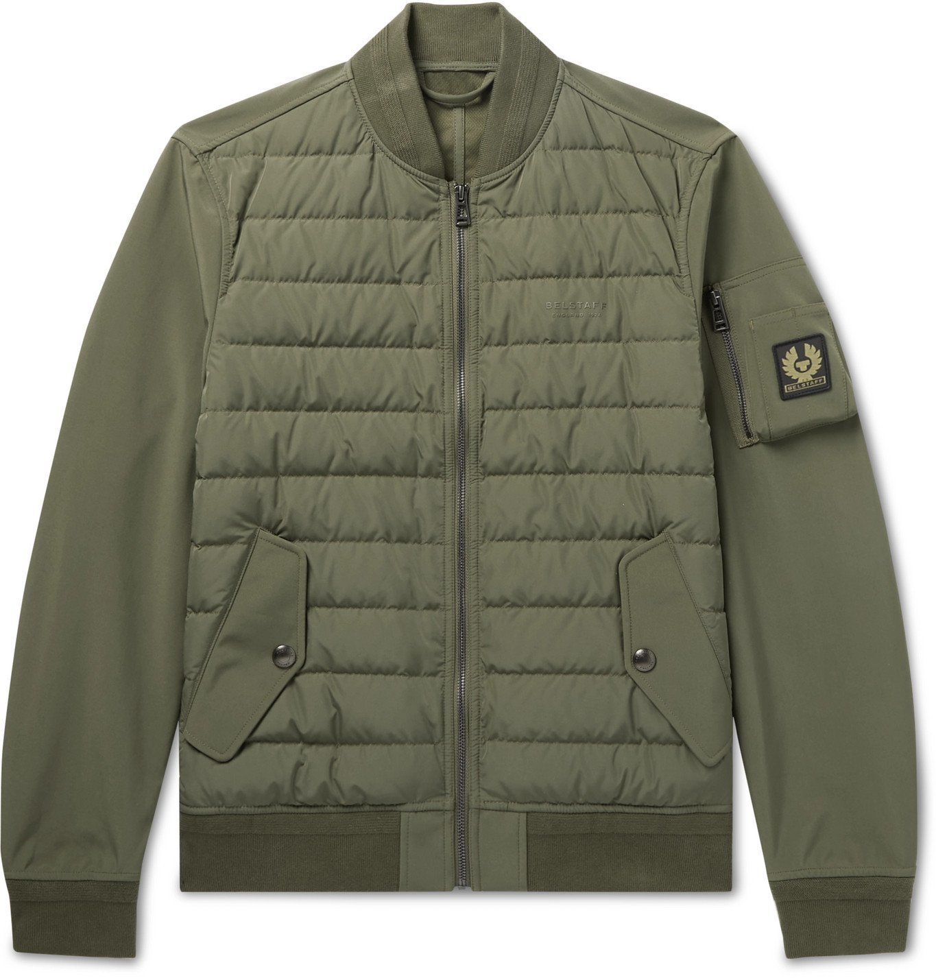Photo: BELSTAFF - Mantle Logo-Appliquéd Quilted Shell Down Jacket - Green