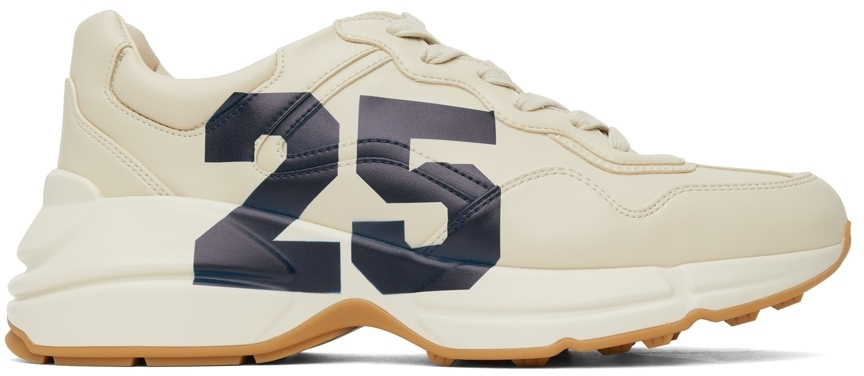 Photo: Gucci Beige '25' Evolution Rhyton Sneakers
