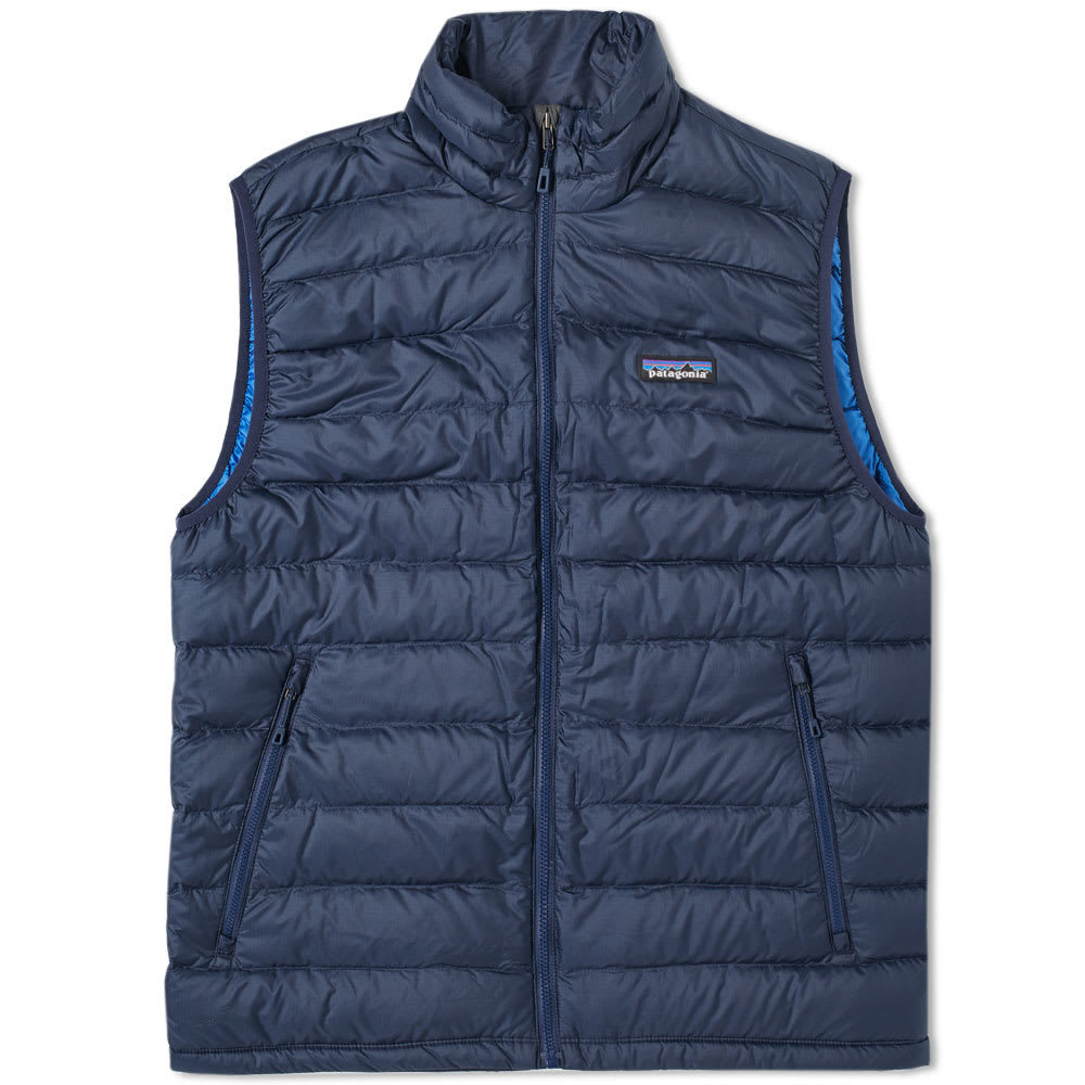 Photo: Patagonia Down Sweater Vest Blue