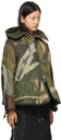 Sacai White & Khaki KAWS Edition Wool Blouson Jacket
