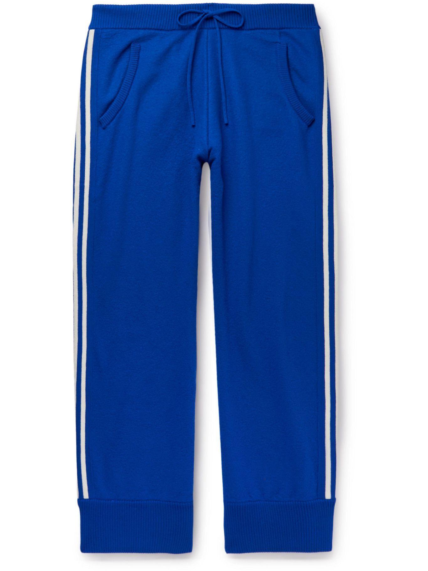 Photo: Maison Margiela - Wide-Leg Striped Wool Sweatpants - Blue