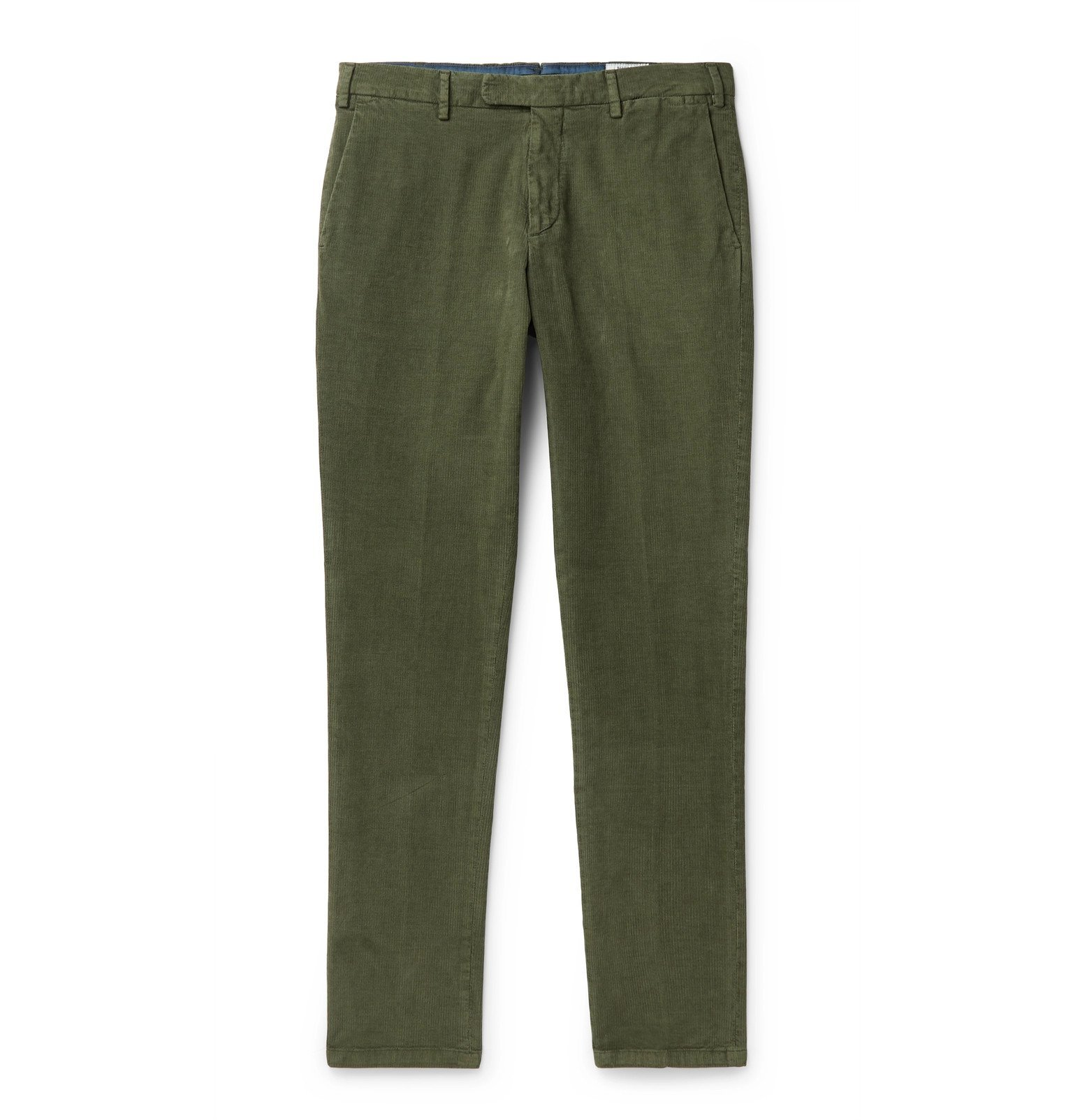 Photo: Boglioli - Slim-Fit Cotton-Blend Corduroy Chinos - Green