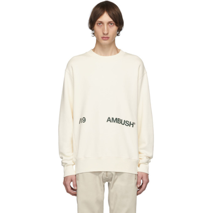 Photo: Ambush White Logo Crewneck Sweatshirt